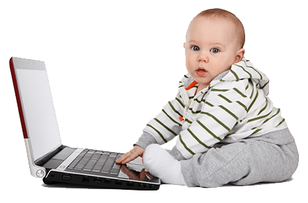Child-on-a-computer