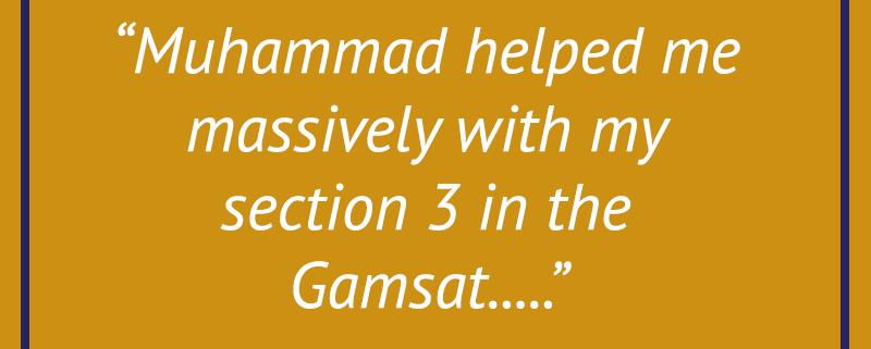 GAMSAT Testimonial