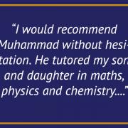 Maths & Science Testimonial